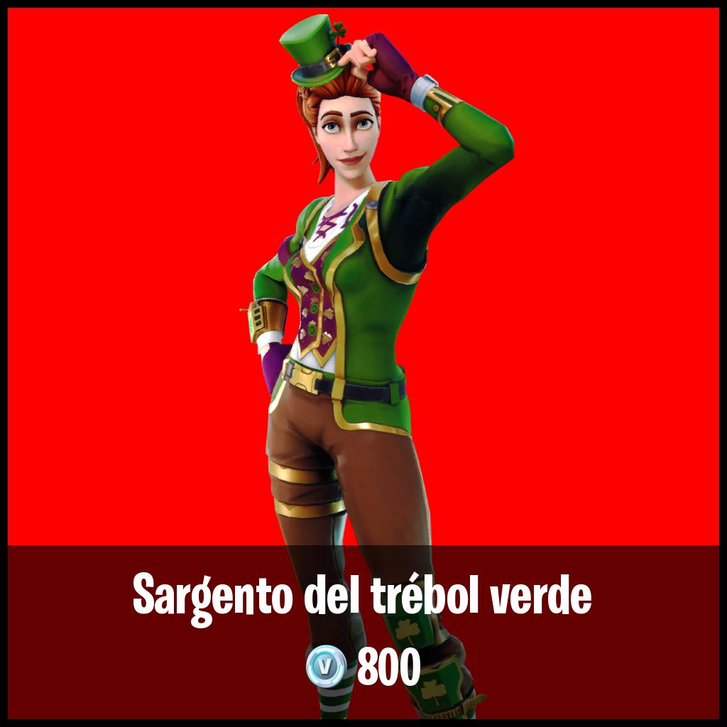 Sargento del trébol verde