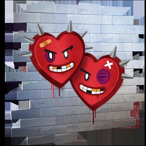 Fortnite Heart Breakers spray