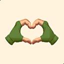 Fortnite Heart Hands emoji