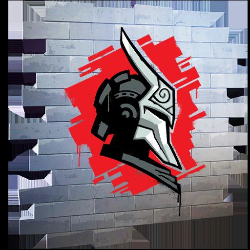 Fortnite Knight's Helm spray