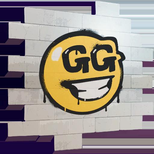 Fortnite GG Smiley spray