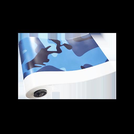 Fortnite Blue Camo wrap