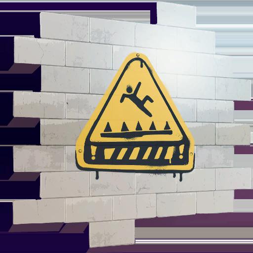 Fortnite Trap Warning spray