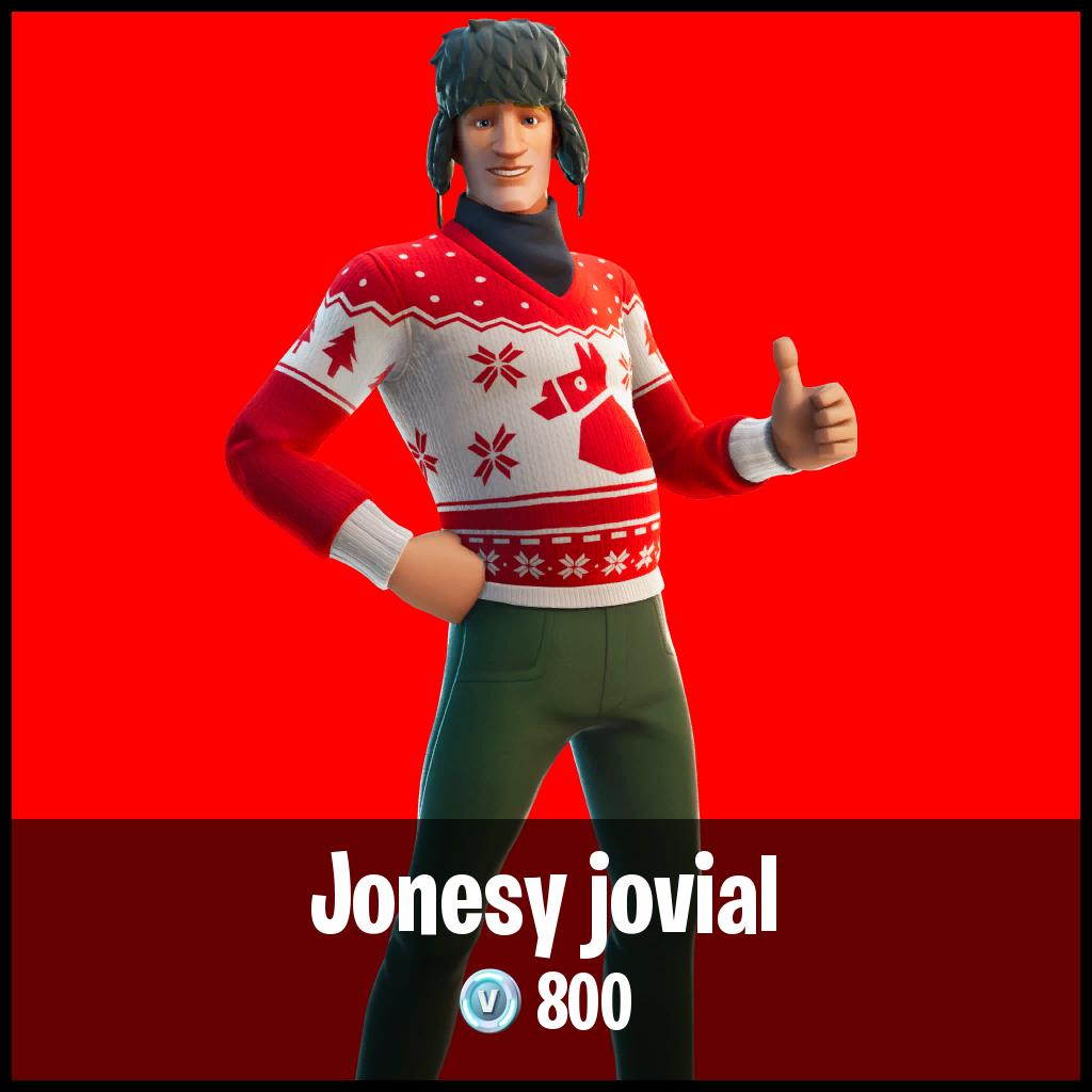 Jonesy jovial