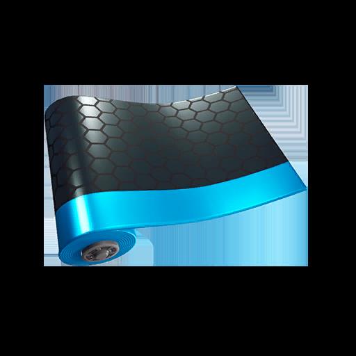 Fortnite Blue Metallic wrap