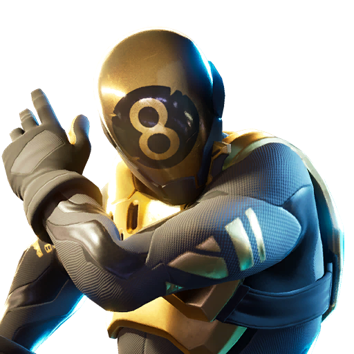 Fortnite 8-Ball (Gold) Outfit Skin