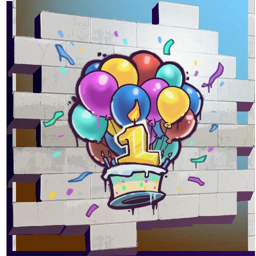 Fortnite Happy Birthday! spray