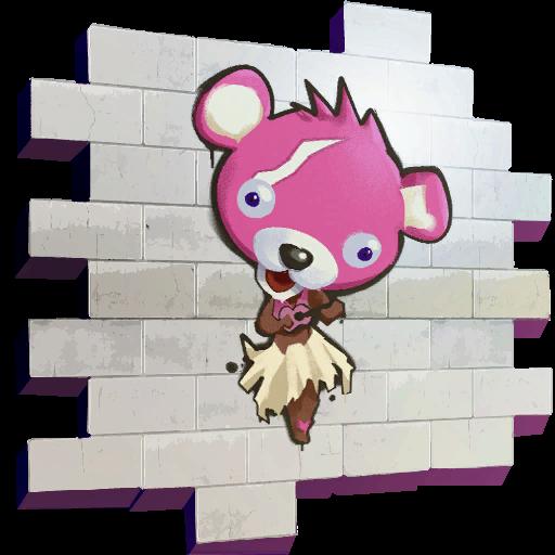 ピンクのクマちゃんフラ