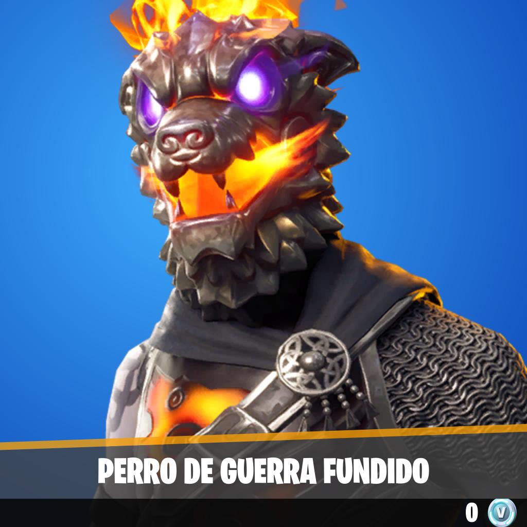 Perro de guerra fundido