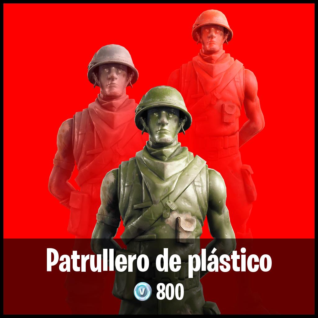 Patrullero de plástico