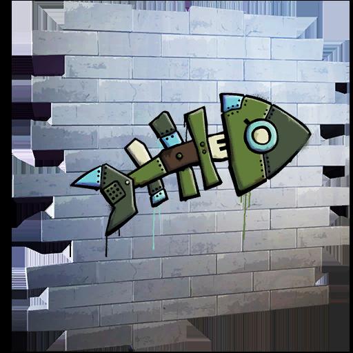 Fortnite Mecha Fish spray