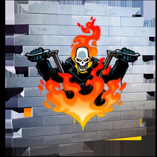 Fortnite Johnny Blaze spray