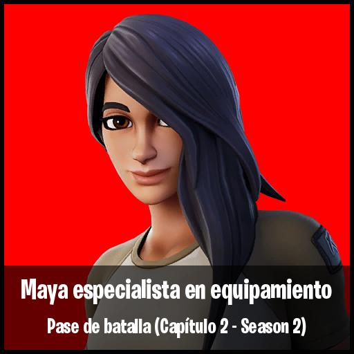 Maya especialista en equipamiento