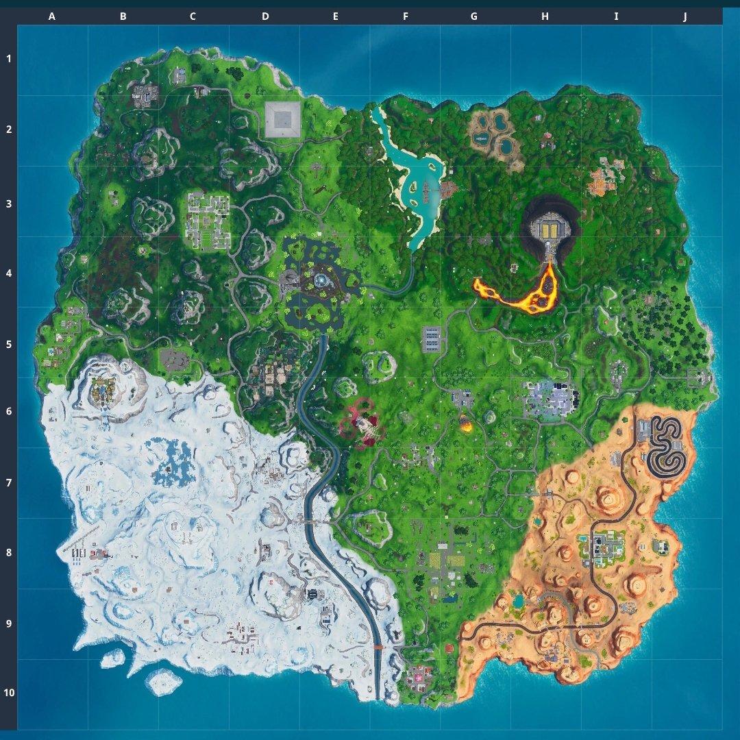 Mapa Fortnite temporada 10.20