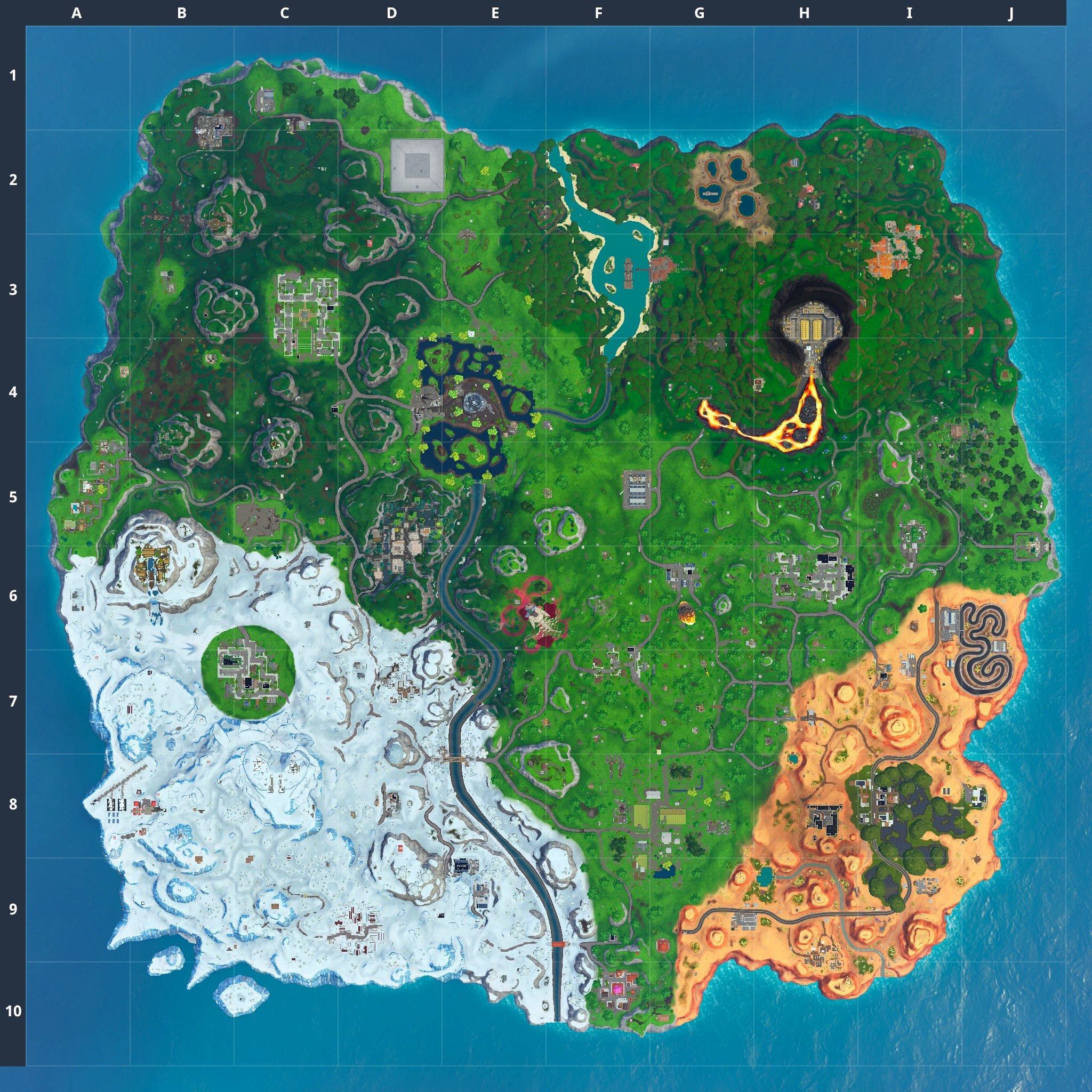 Mapa Fortnite temporada 10.30