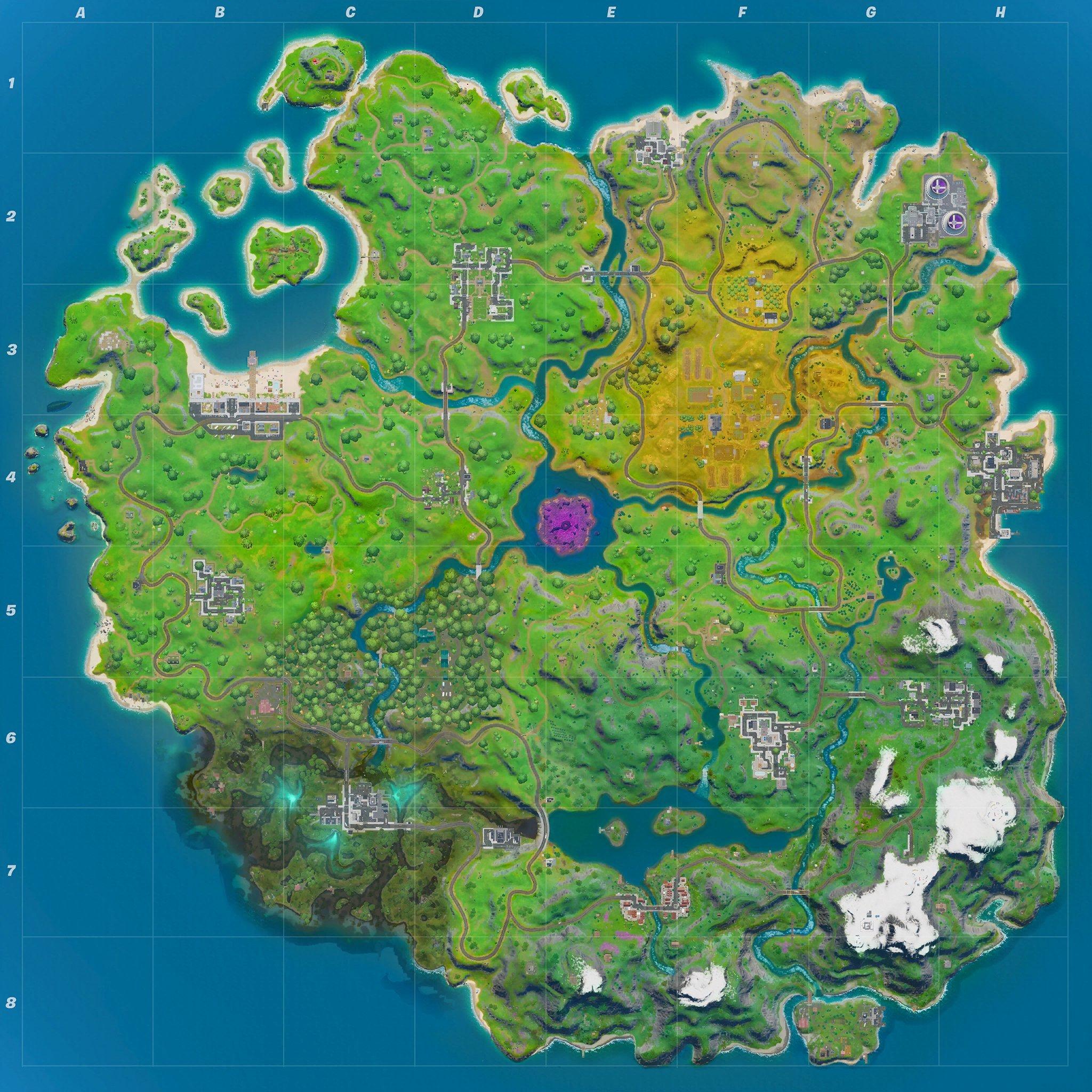 Mapa Fortnite temporada 11.10