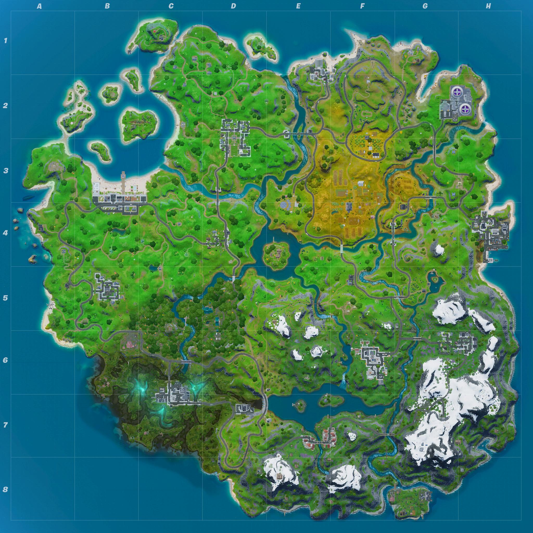 Mapa Fortnite temporada 11.30