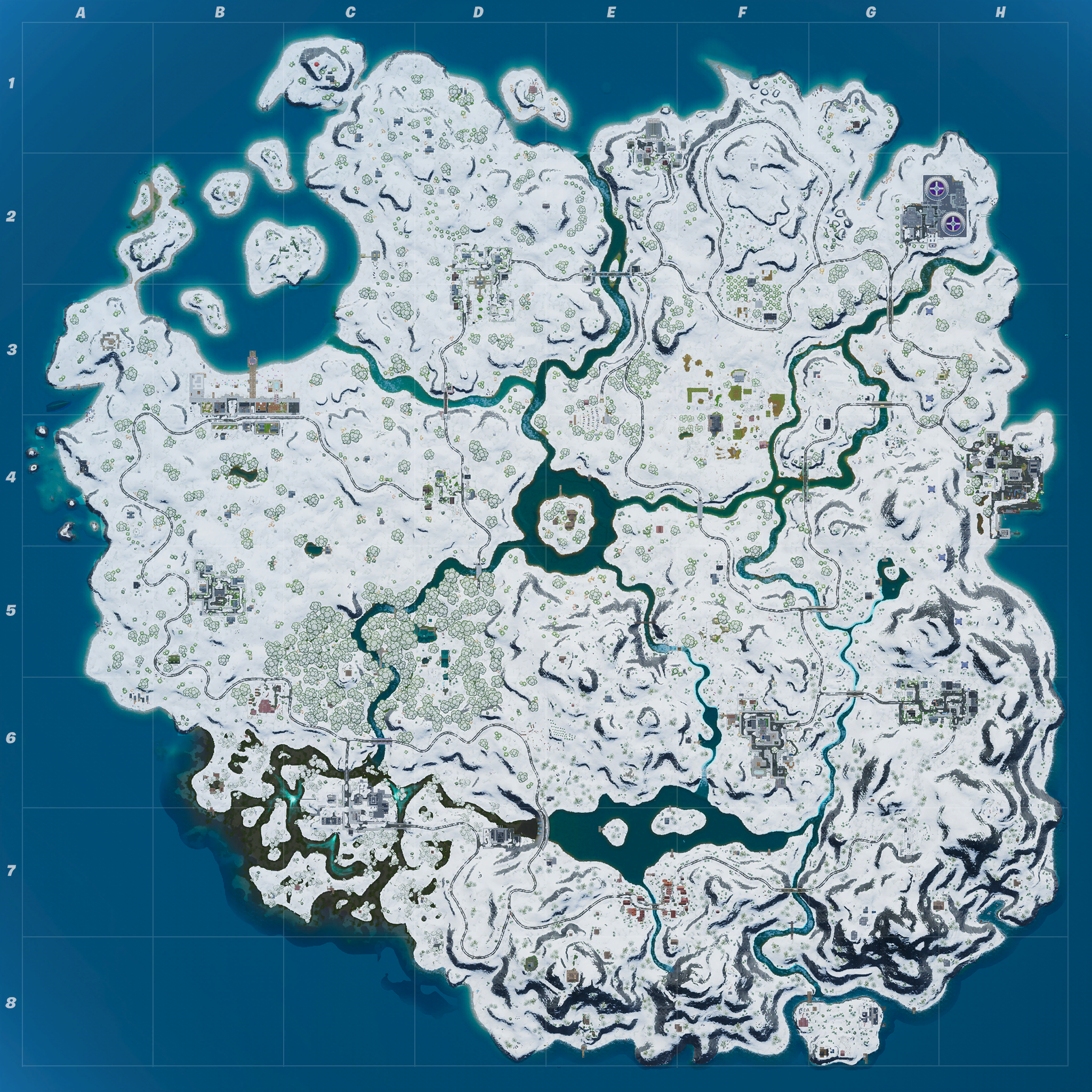 Mapa Fortnite temporada 11.31