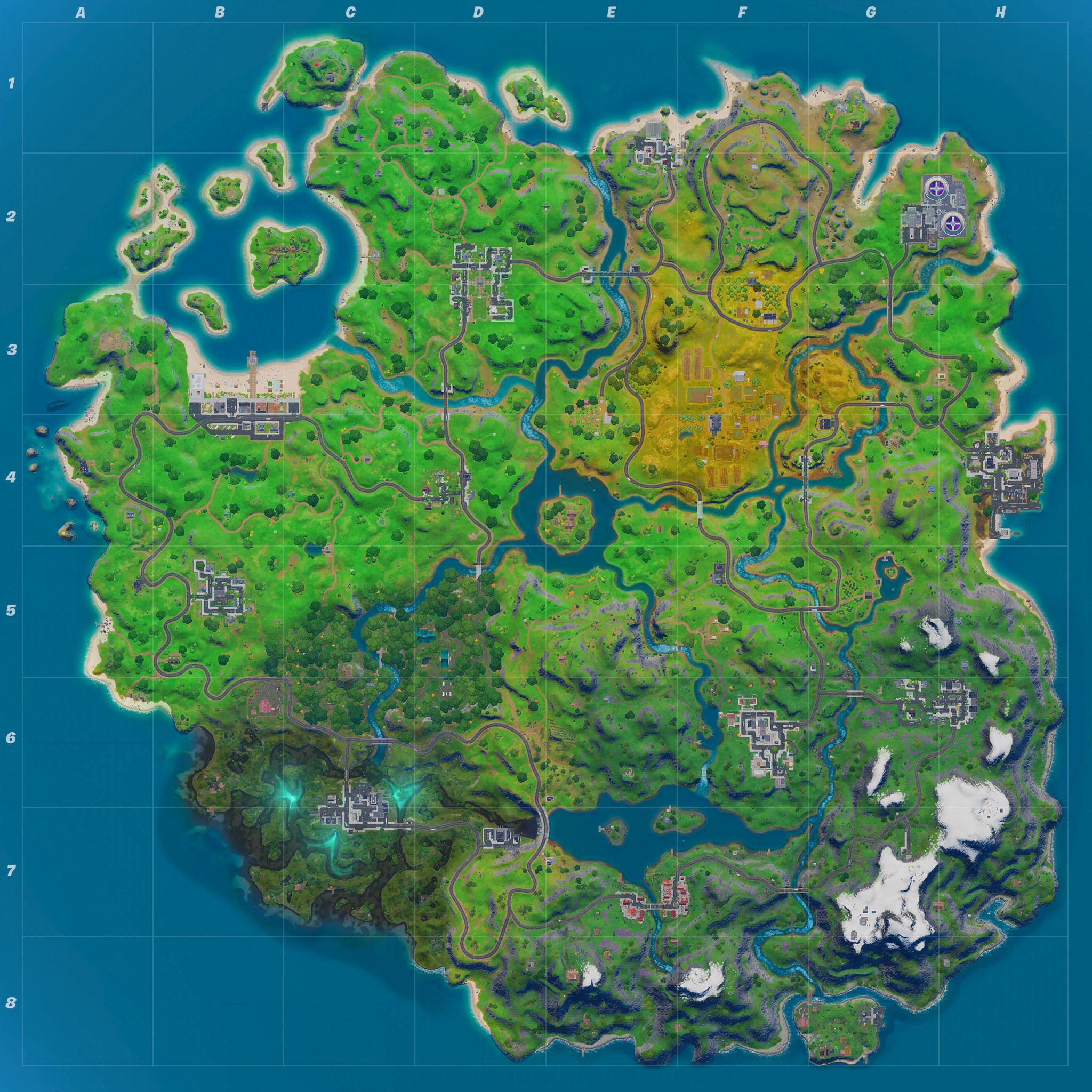 Mapa Fortnite temporada 11.40