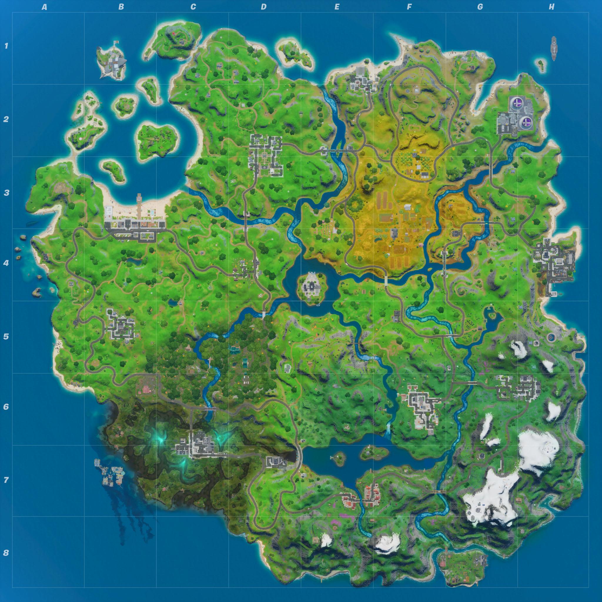 Mapa Fortnite temporada 12.50