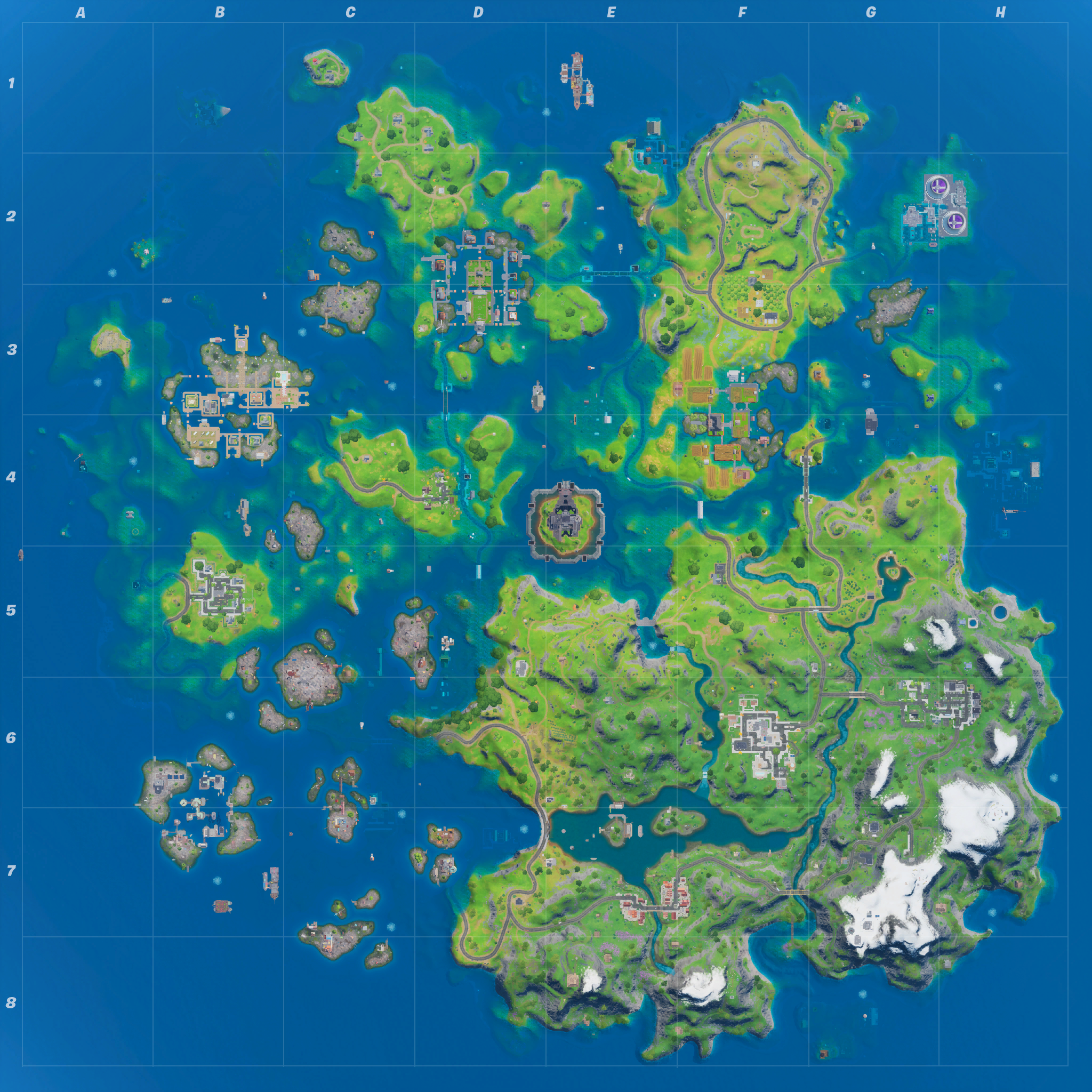 Mapa Fortnite temporada 13.00