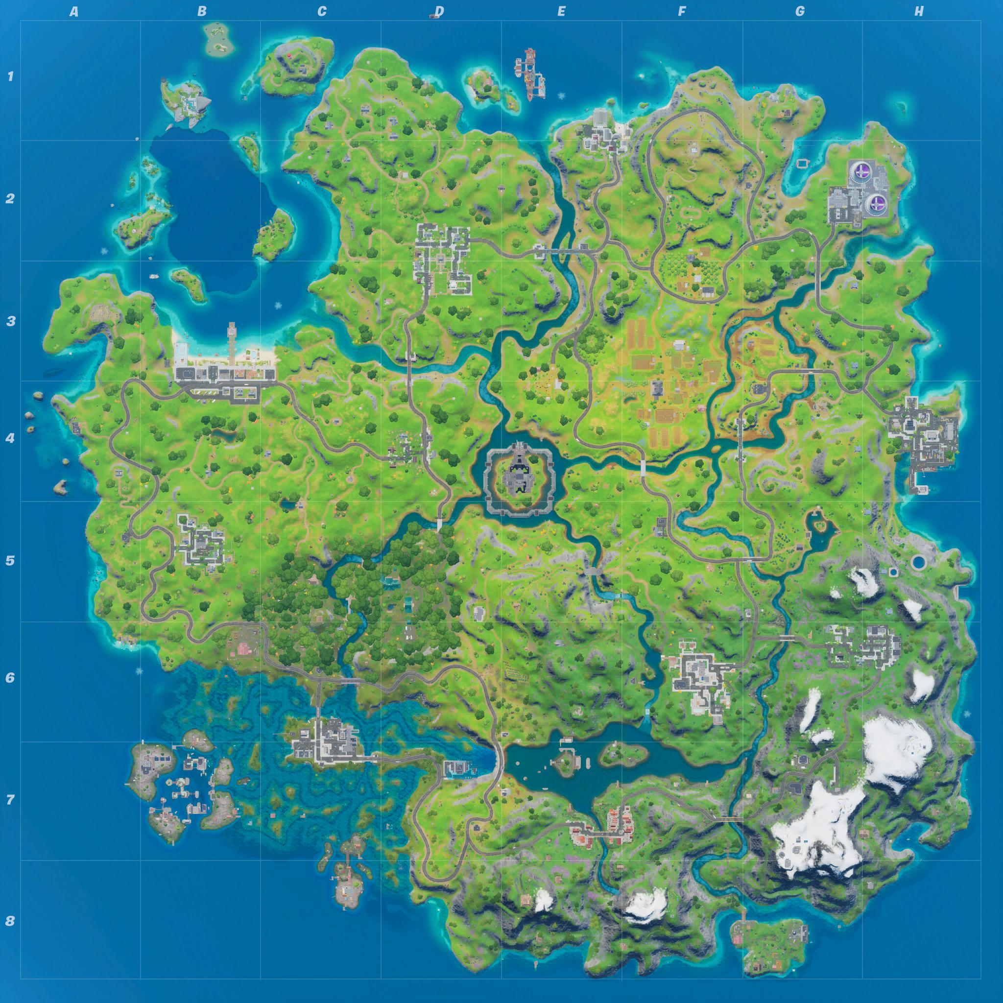 Mapa Fortnite temporada 13.30