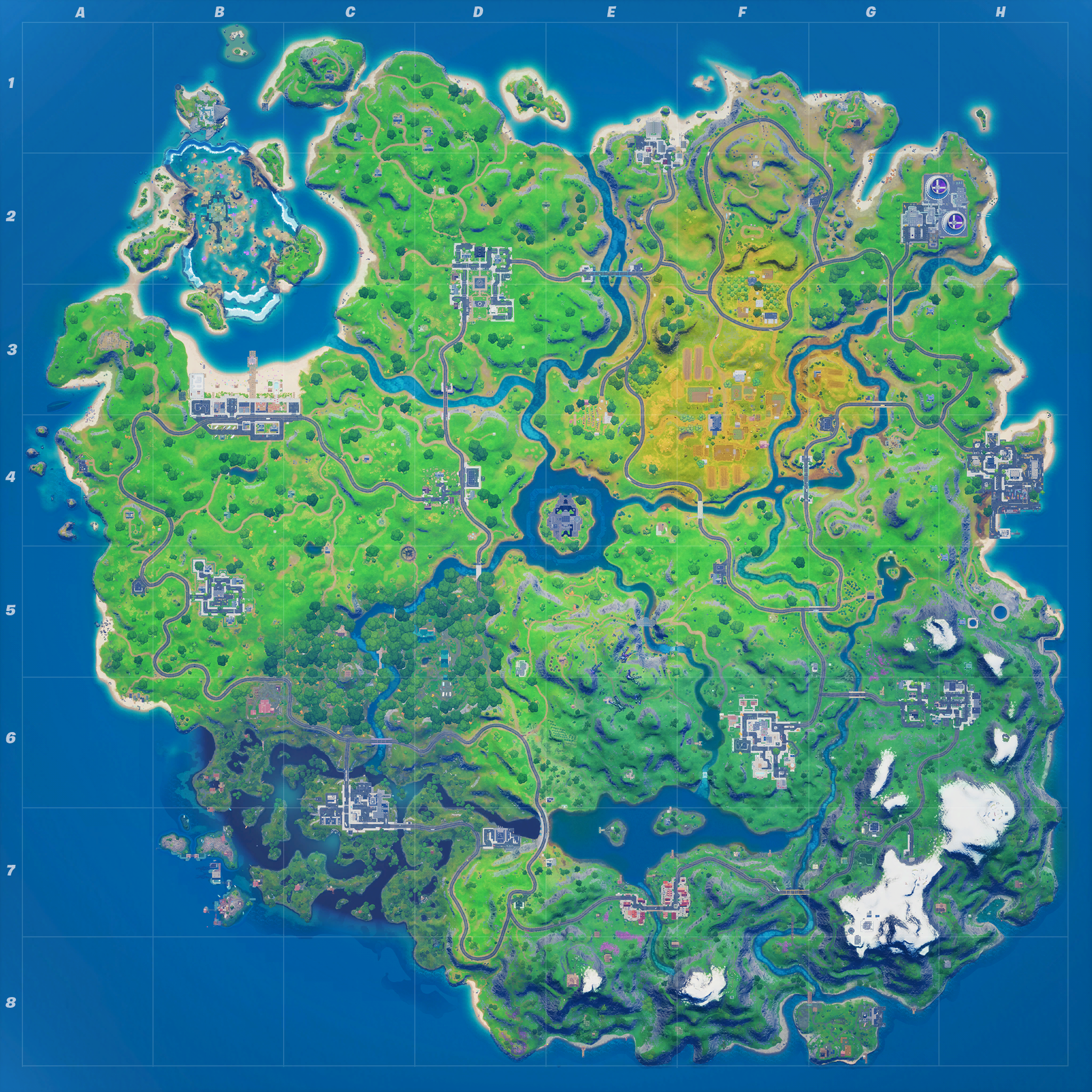 Mapa Fortnite temporada 14.00