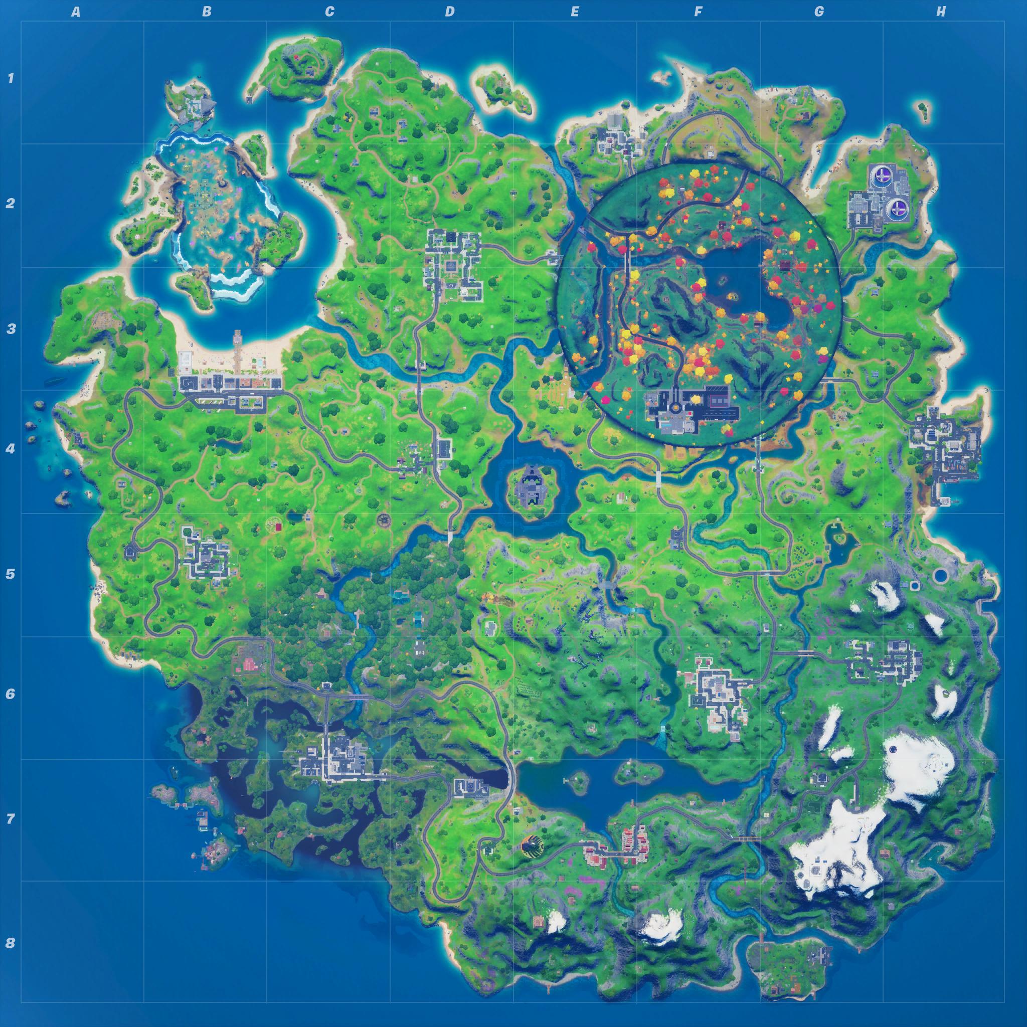 Mapa Fortnite temporada 14.10