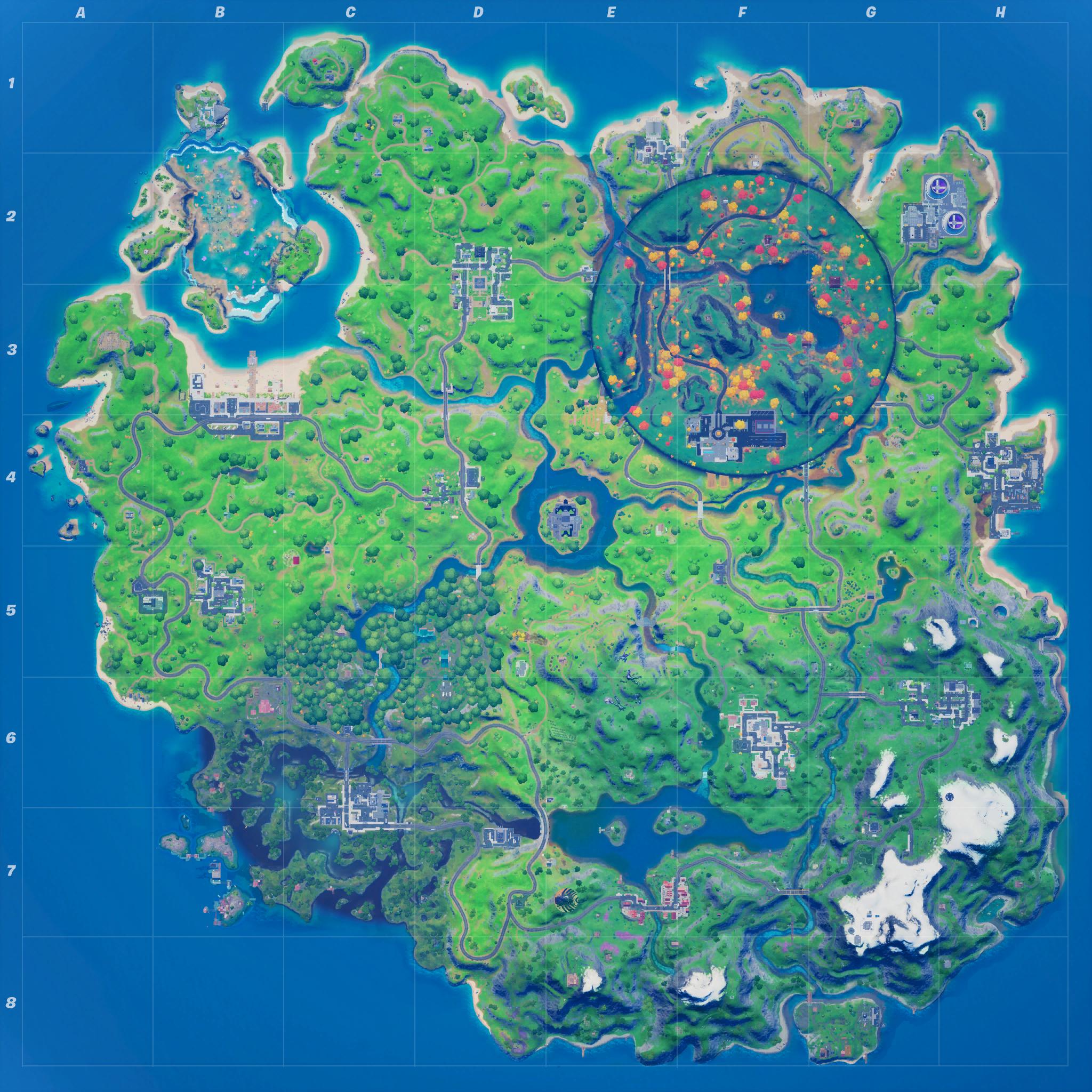Mapa Fortnite temporada 14.20
