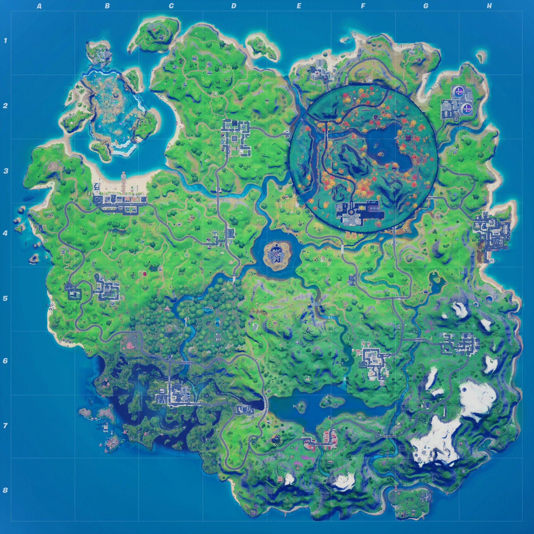Mapa Fortnite temporada 14.40