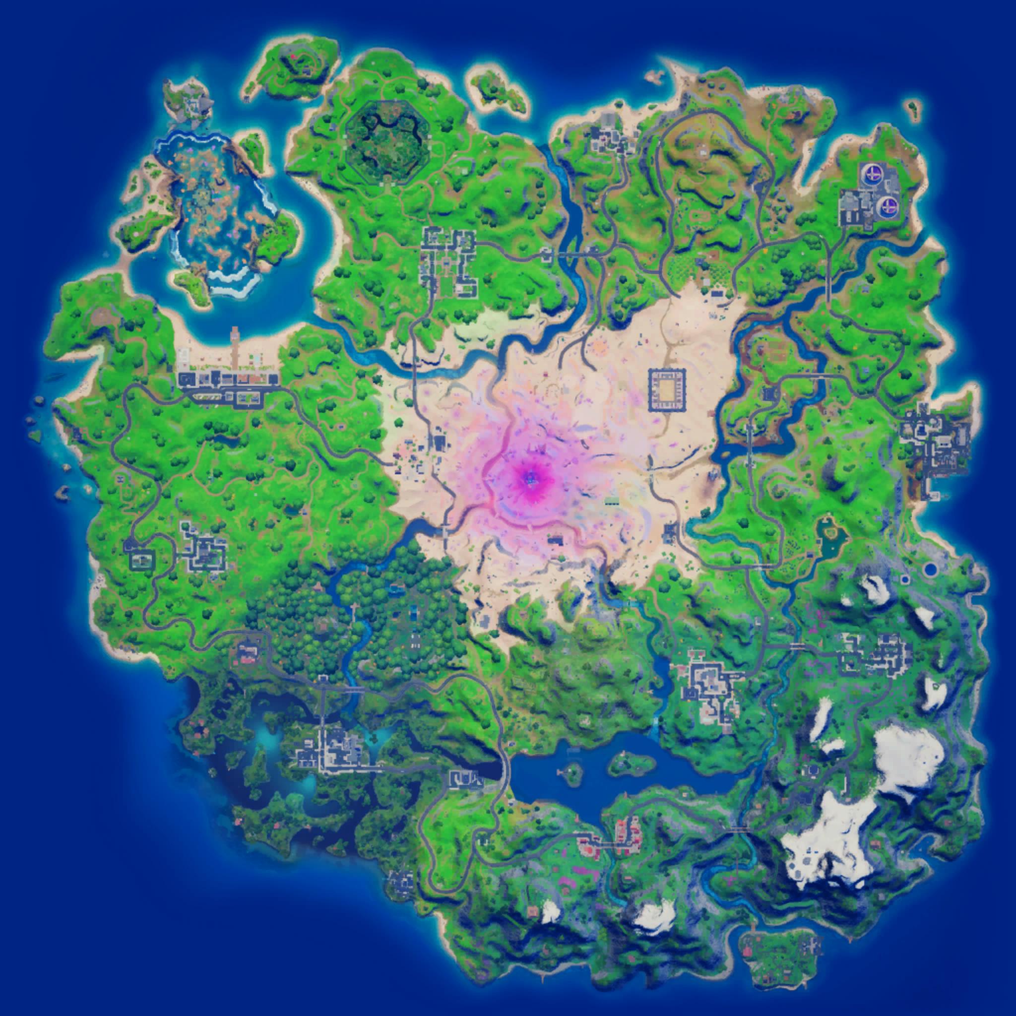 Mapa Fortnite temporada 15.10
