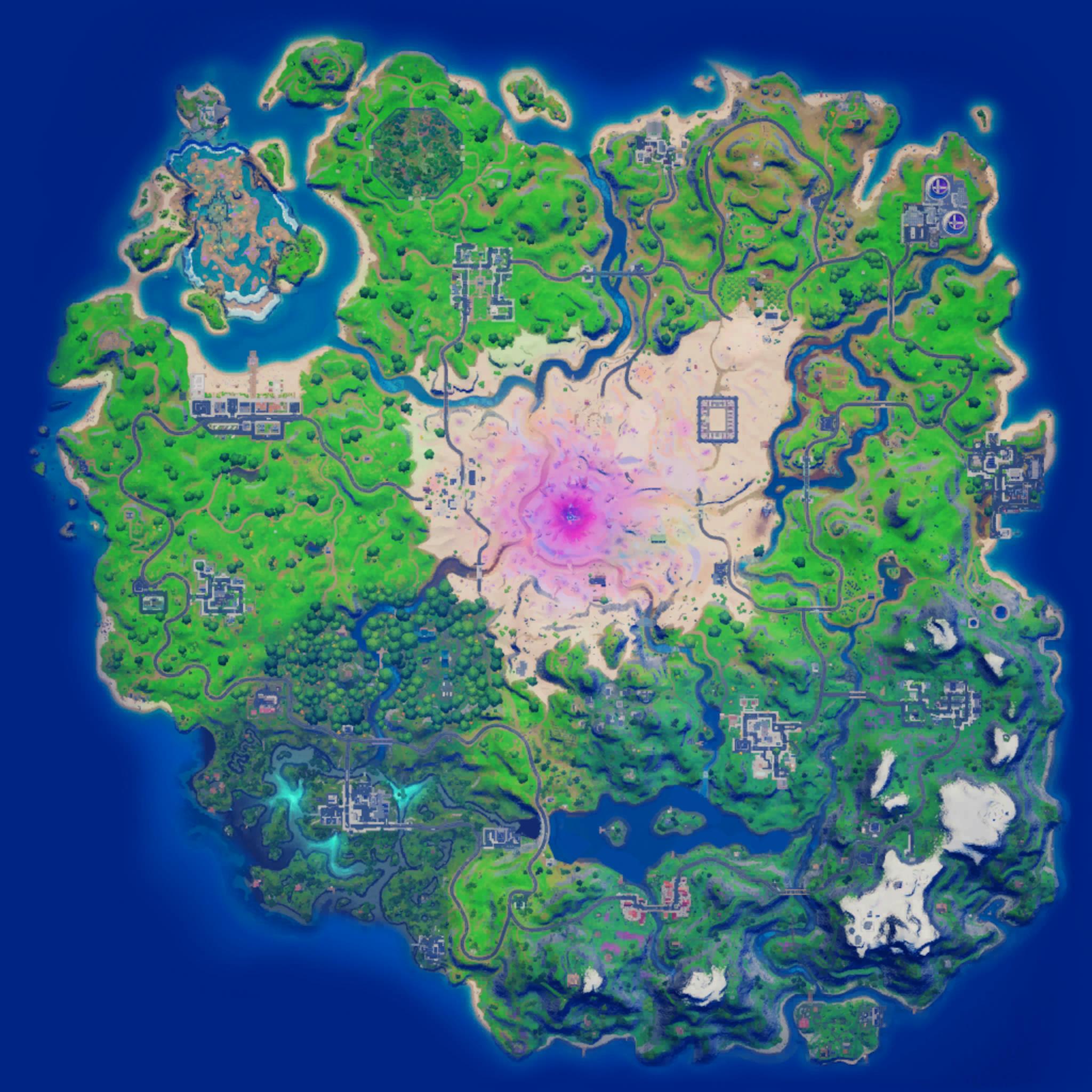 Mapa Fortnite temporada 15.21