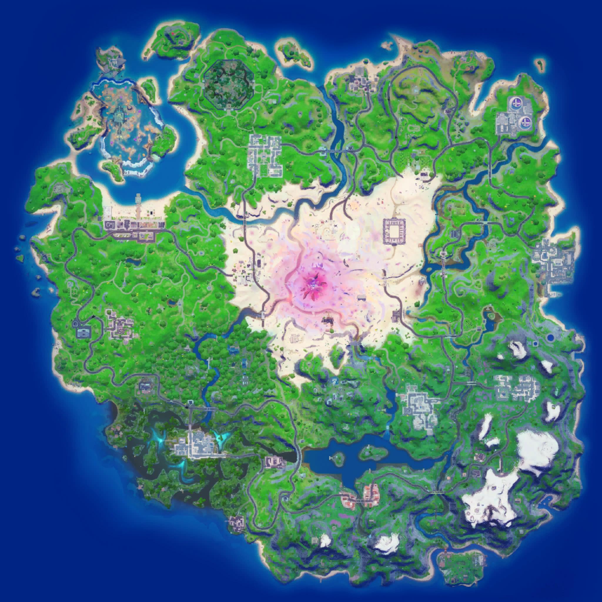 Mapa Fortnite temporada 15.40