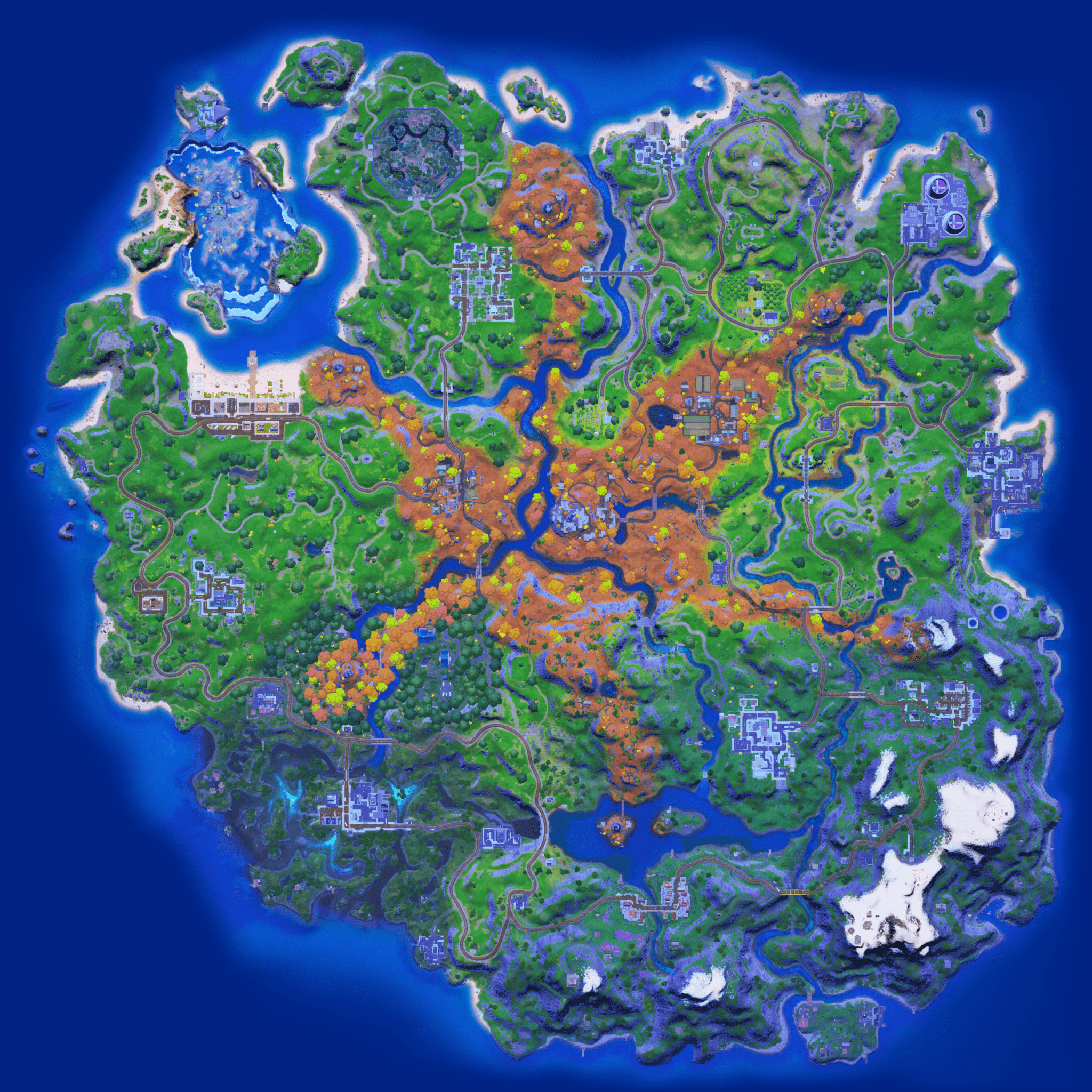 Mapa Fortnite temporada 16.00