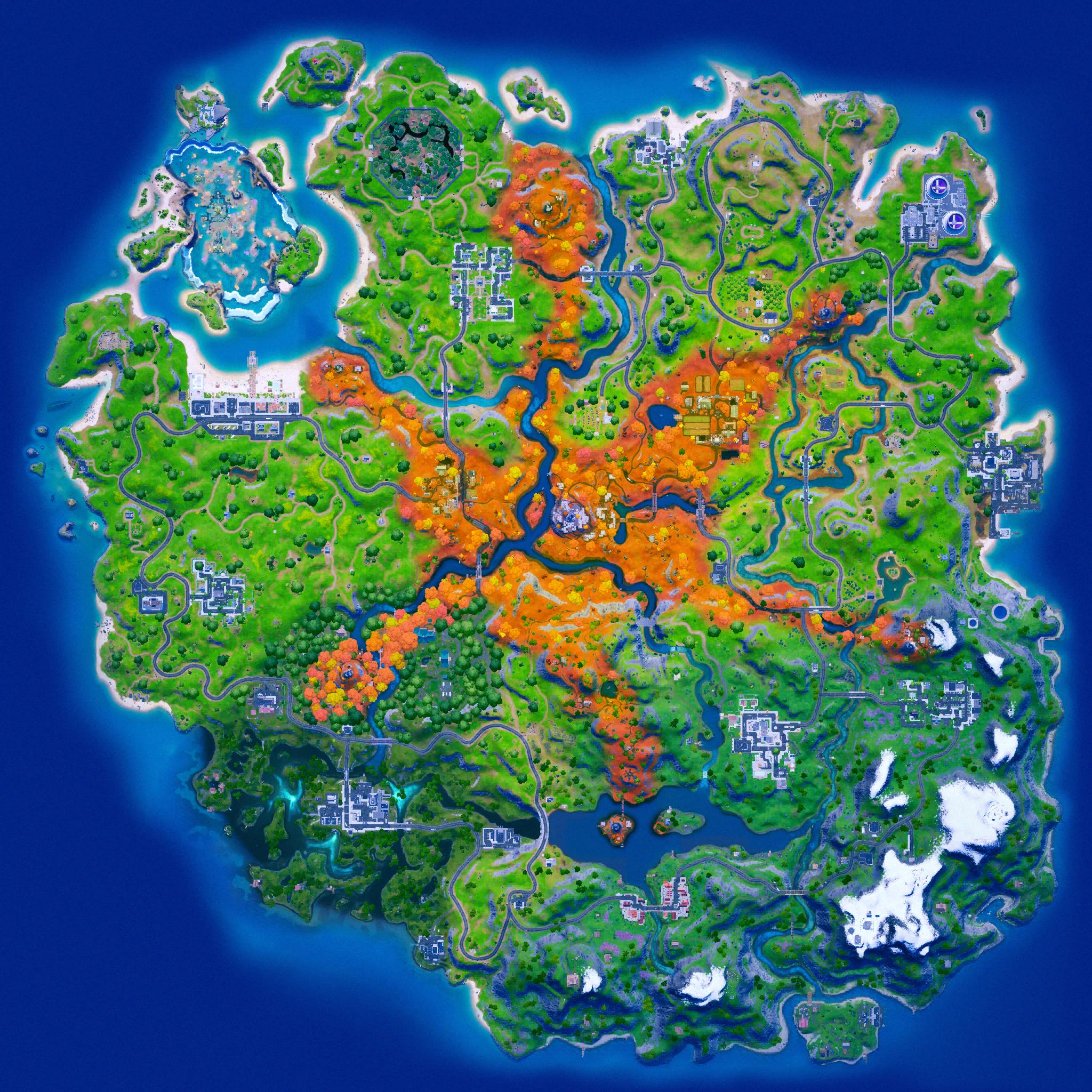 Mapa Fortnite temporada 16.10