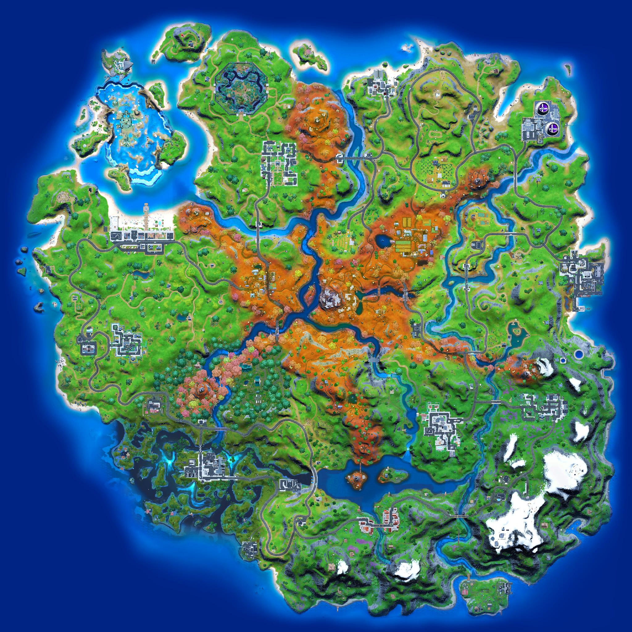 Mapa Fortnite temporada 16.20