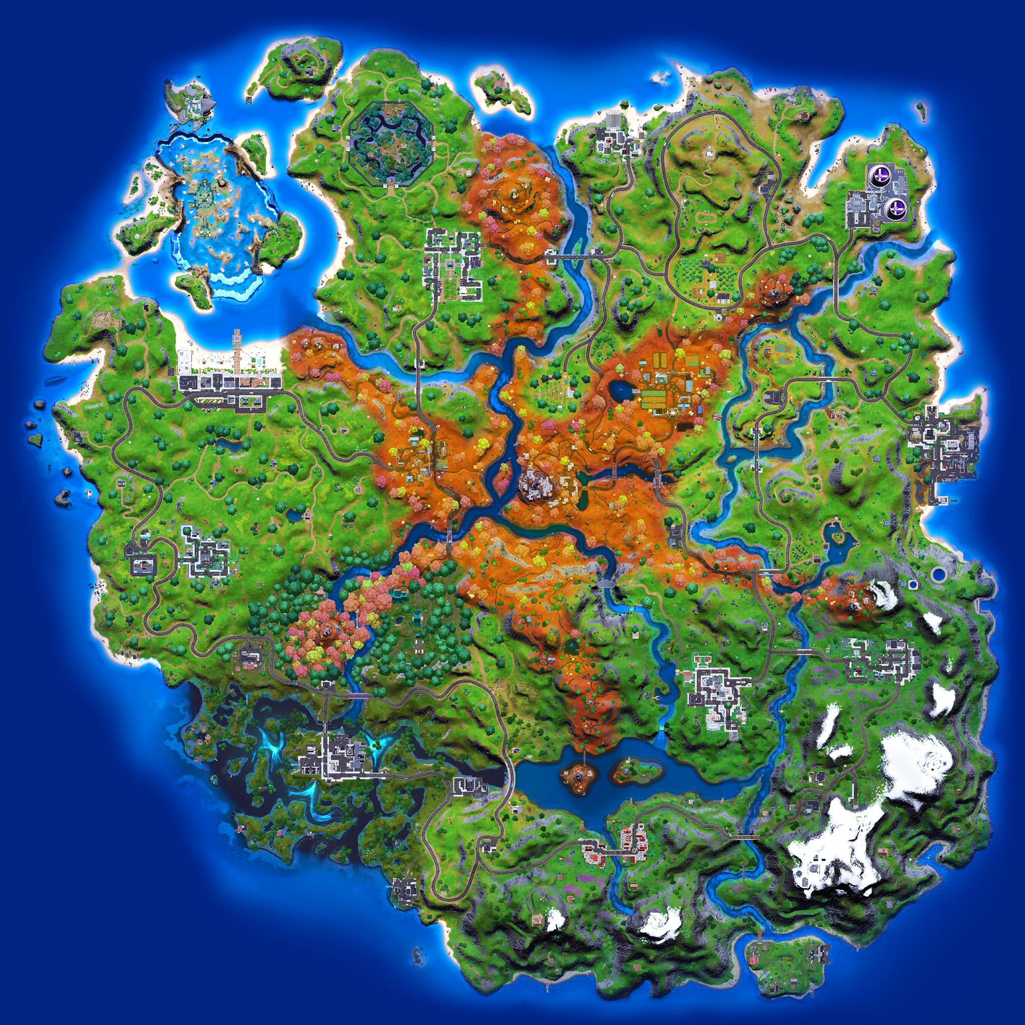 Mapa Fortnite temporada 16.30