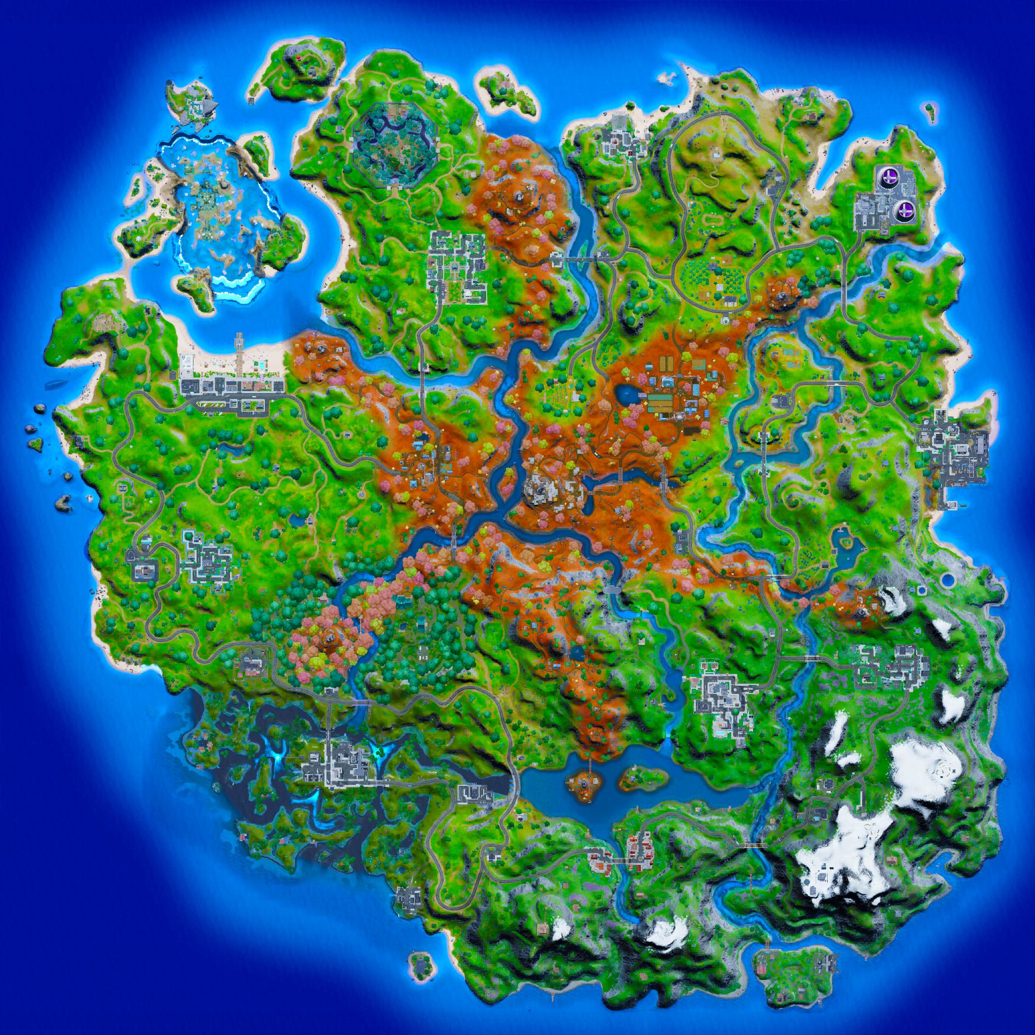 Mapa Fortnite temporada 16.50