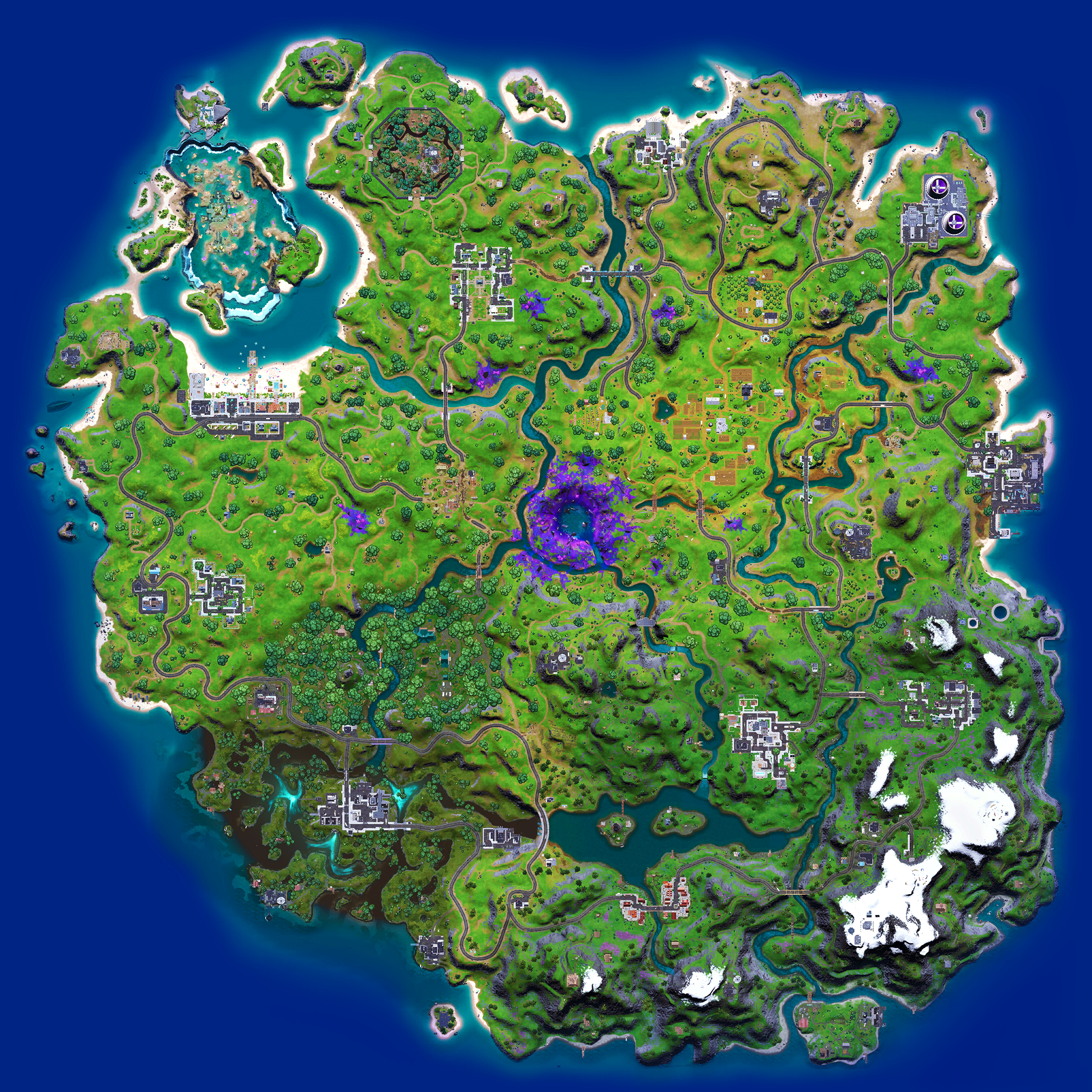 Mapa Fortnite temporada 17.00
