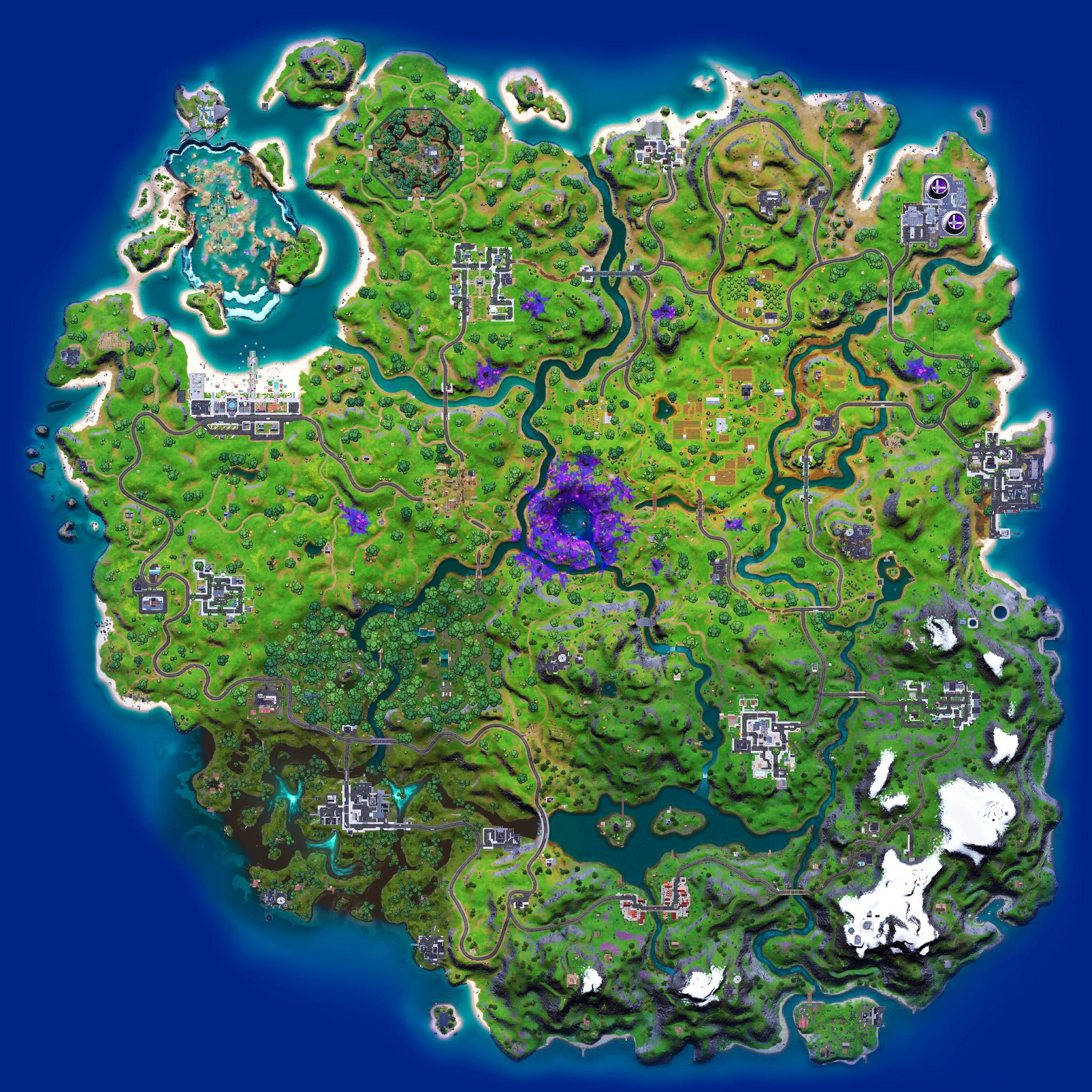 Mapa Fortnite temporada 17.10