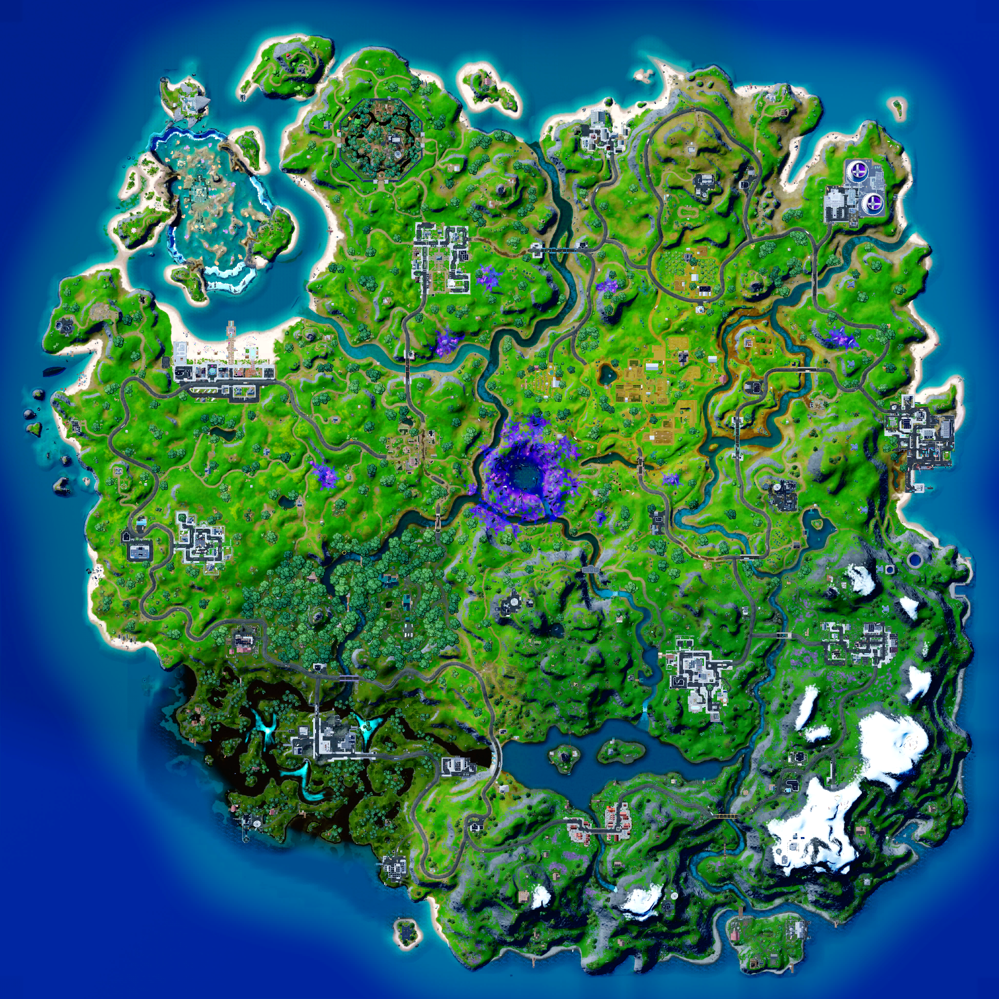 Mapa Fortnite temporada 17.30