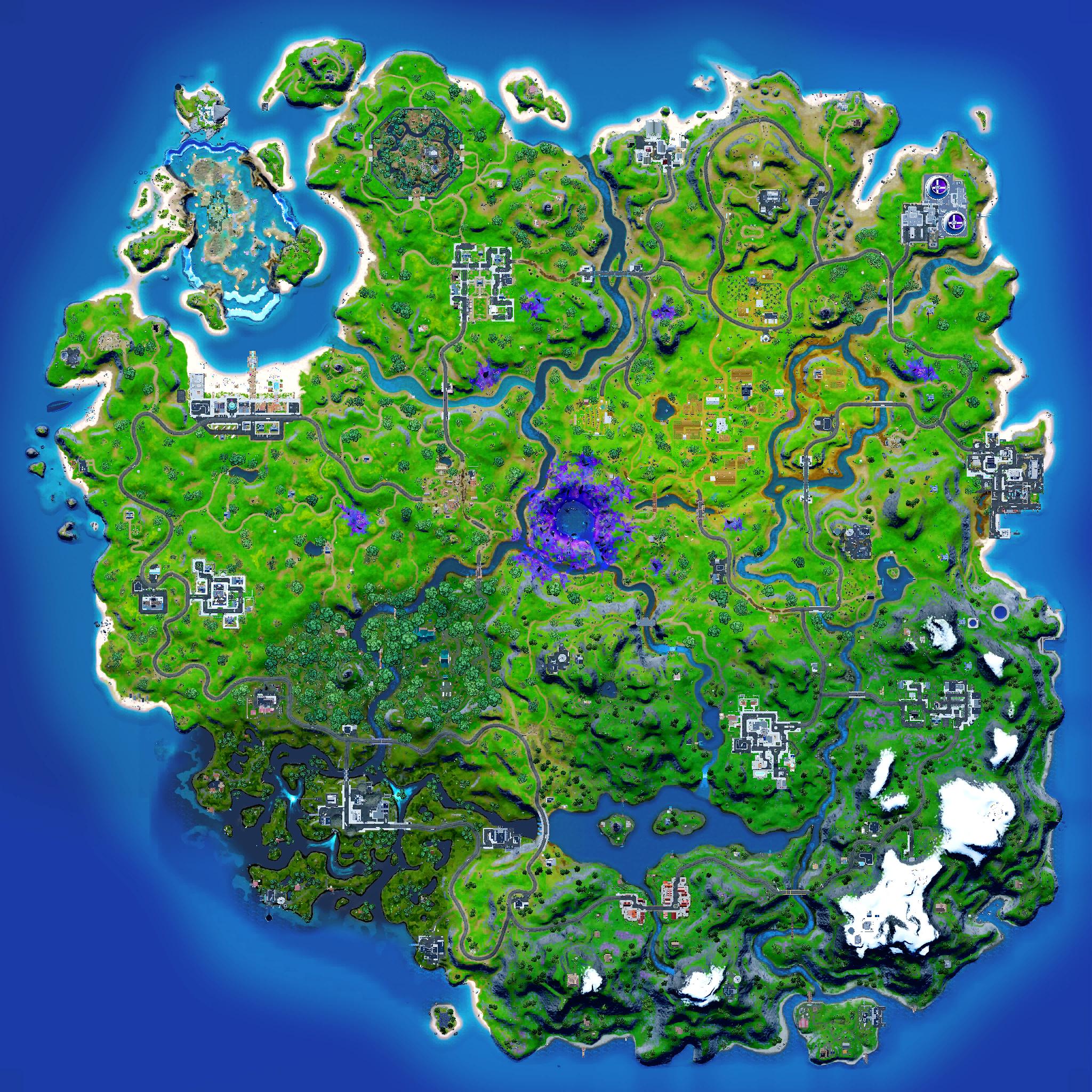 Mapa Fortnite temporada 17.40