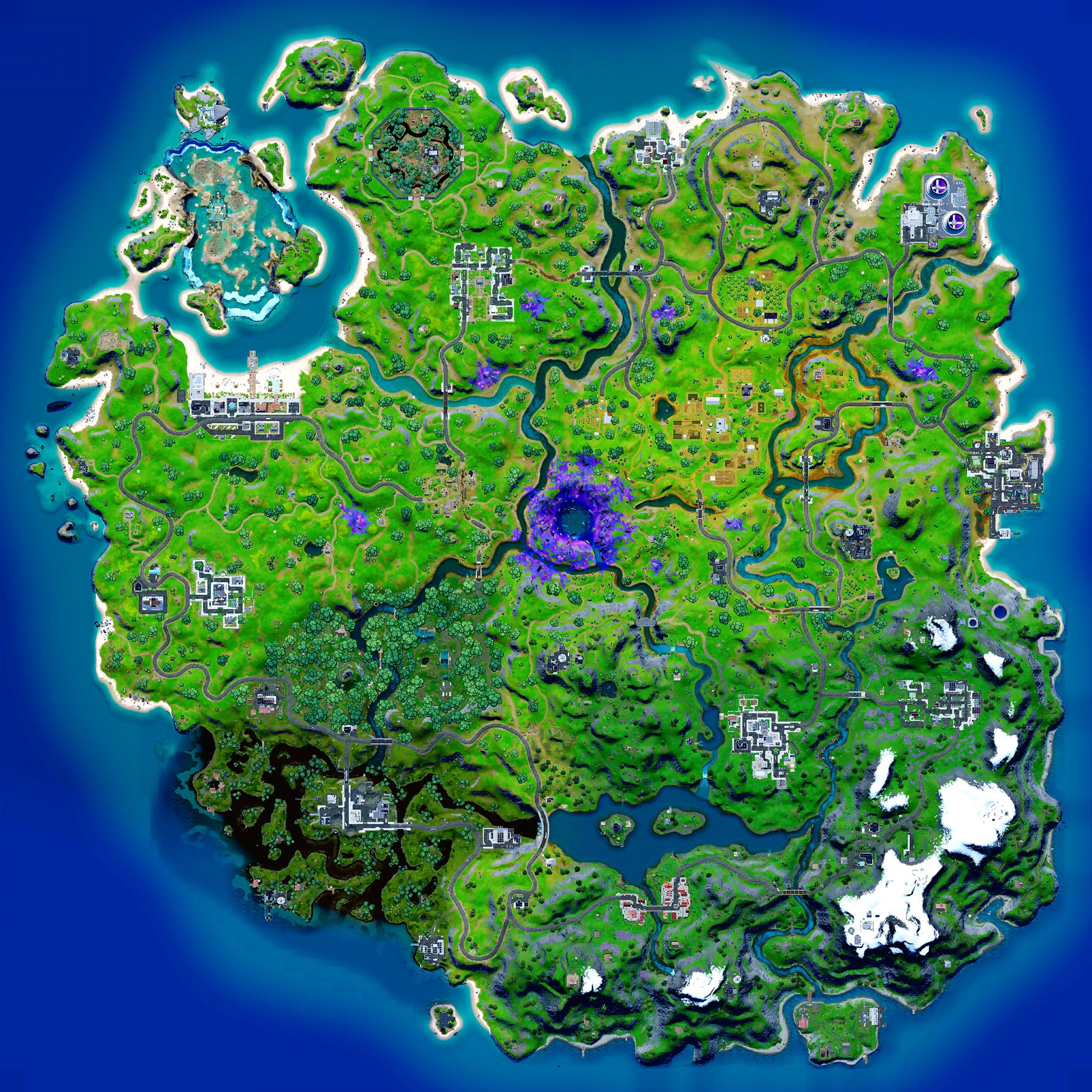Mapa Fortnite temporada 17.50