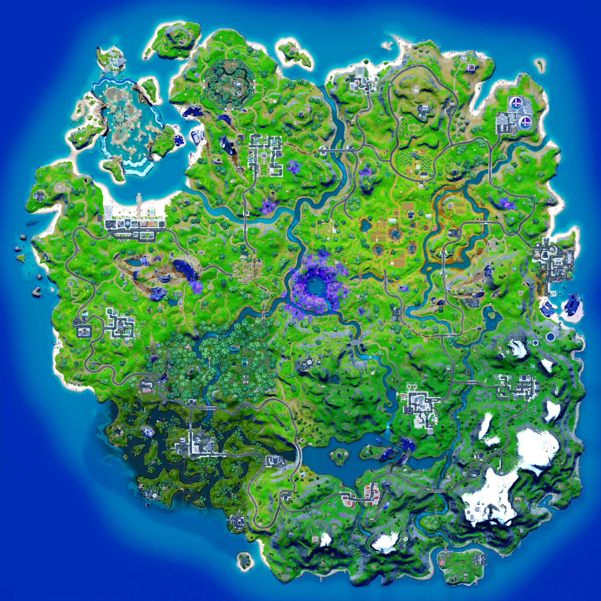 Mapa Fortnite temporada 18.00