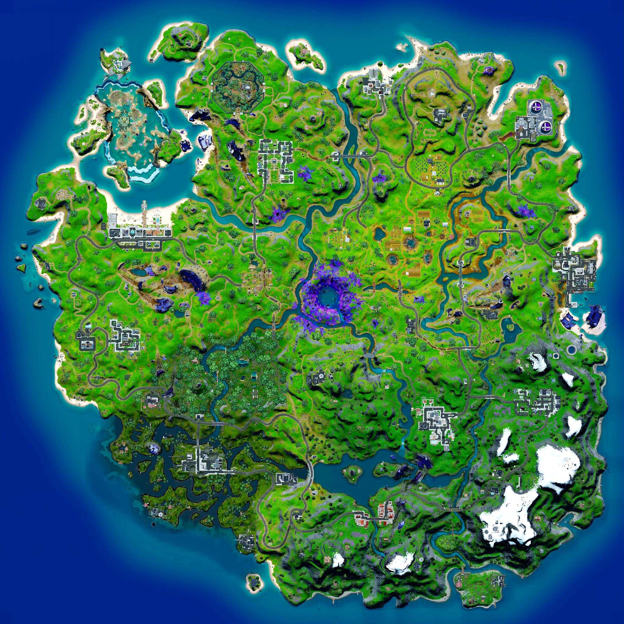 Mapa Fortnite temporada 18.10