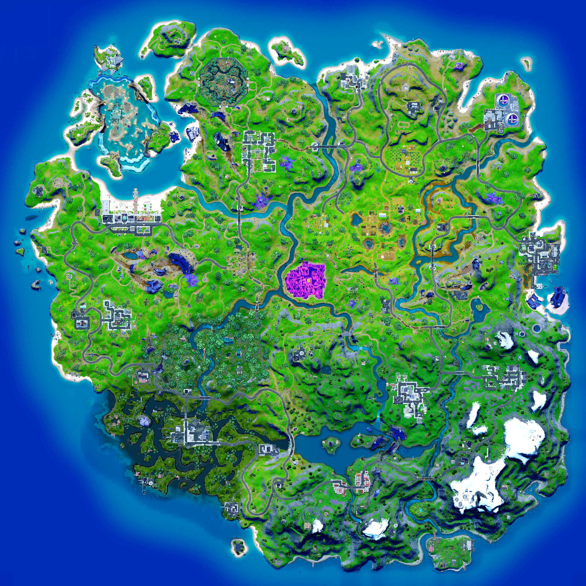 Mapa Fortnite temporada 18.21