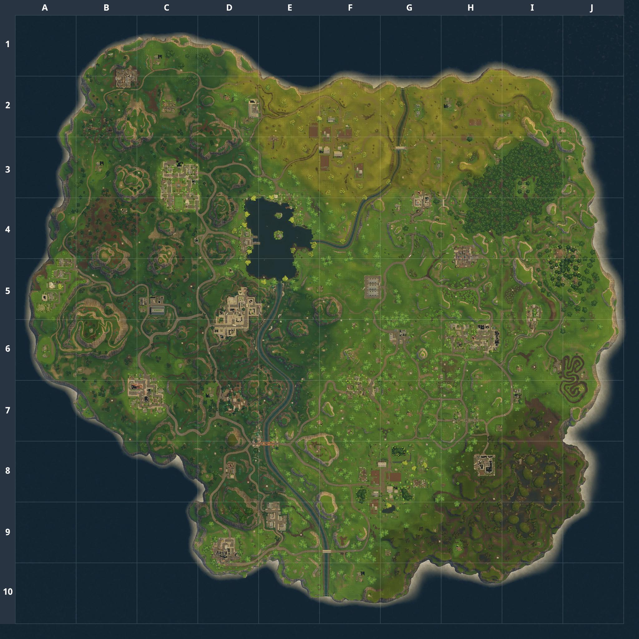 Mapa Fortnite temporada 2.2.0