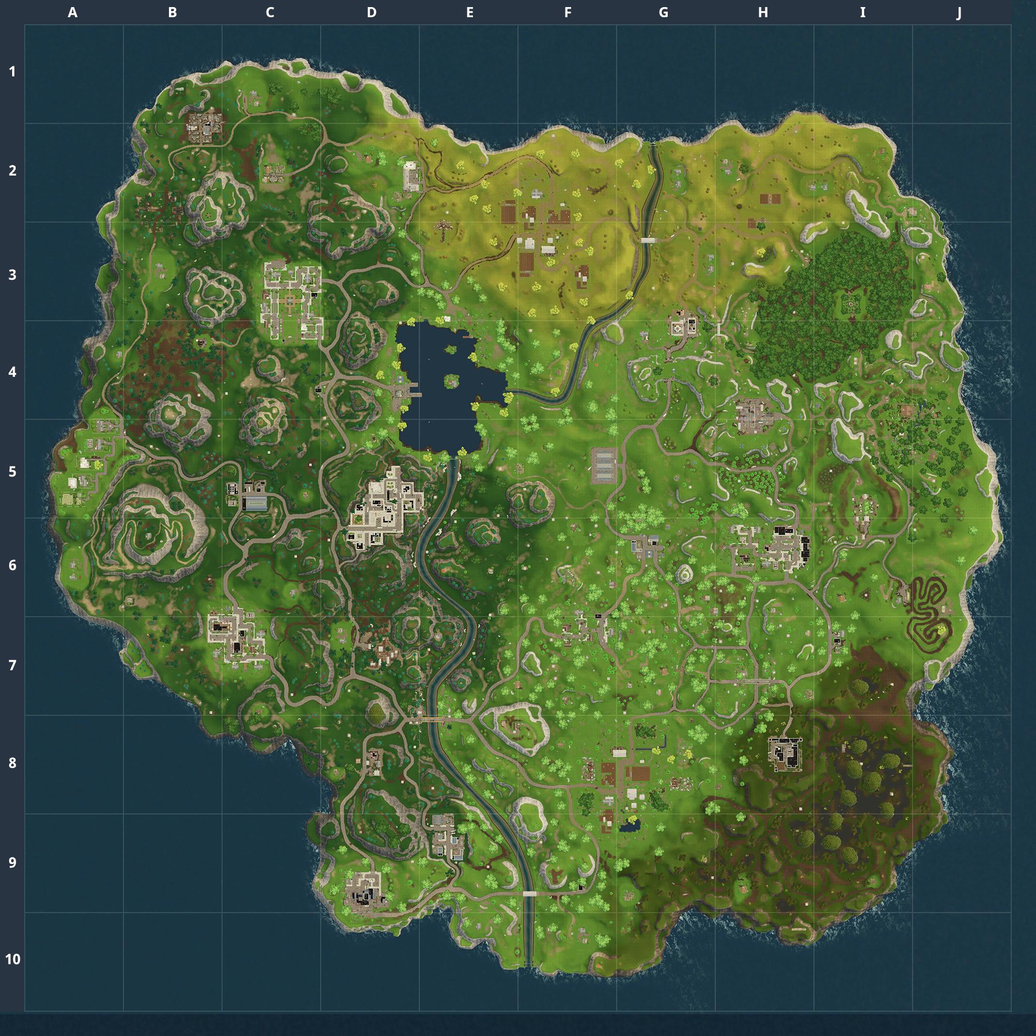 Mapa Fortnite temporada 3.0.0