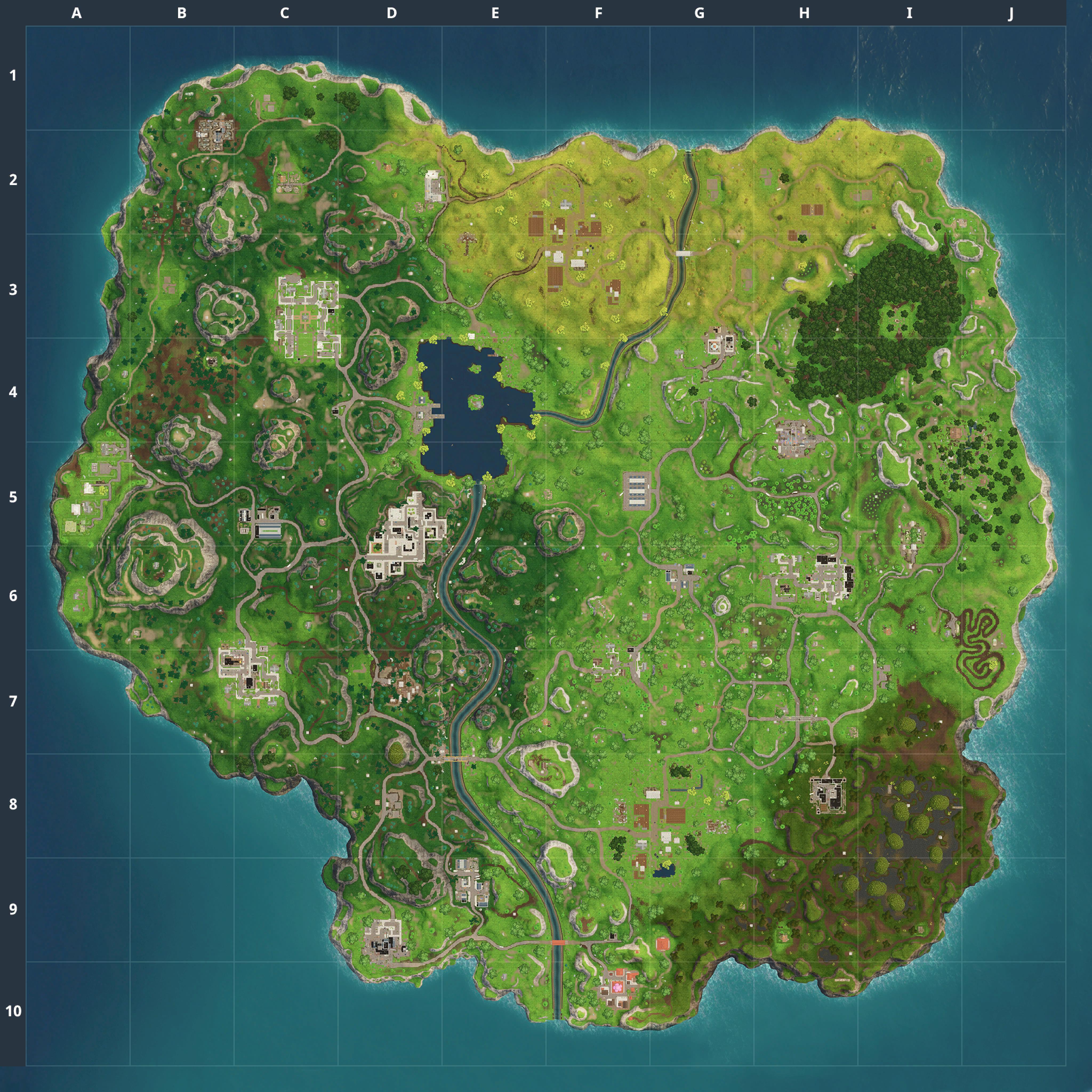 Mapa Fortnite temporada 3.1.0