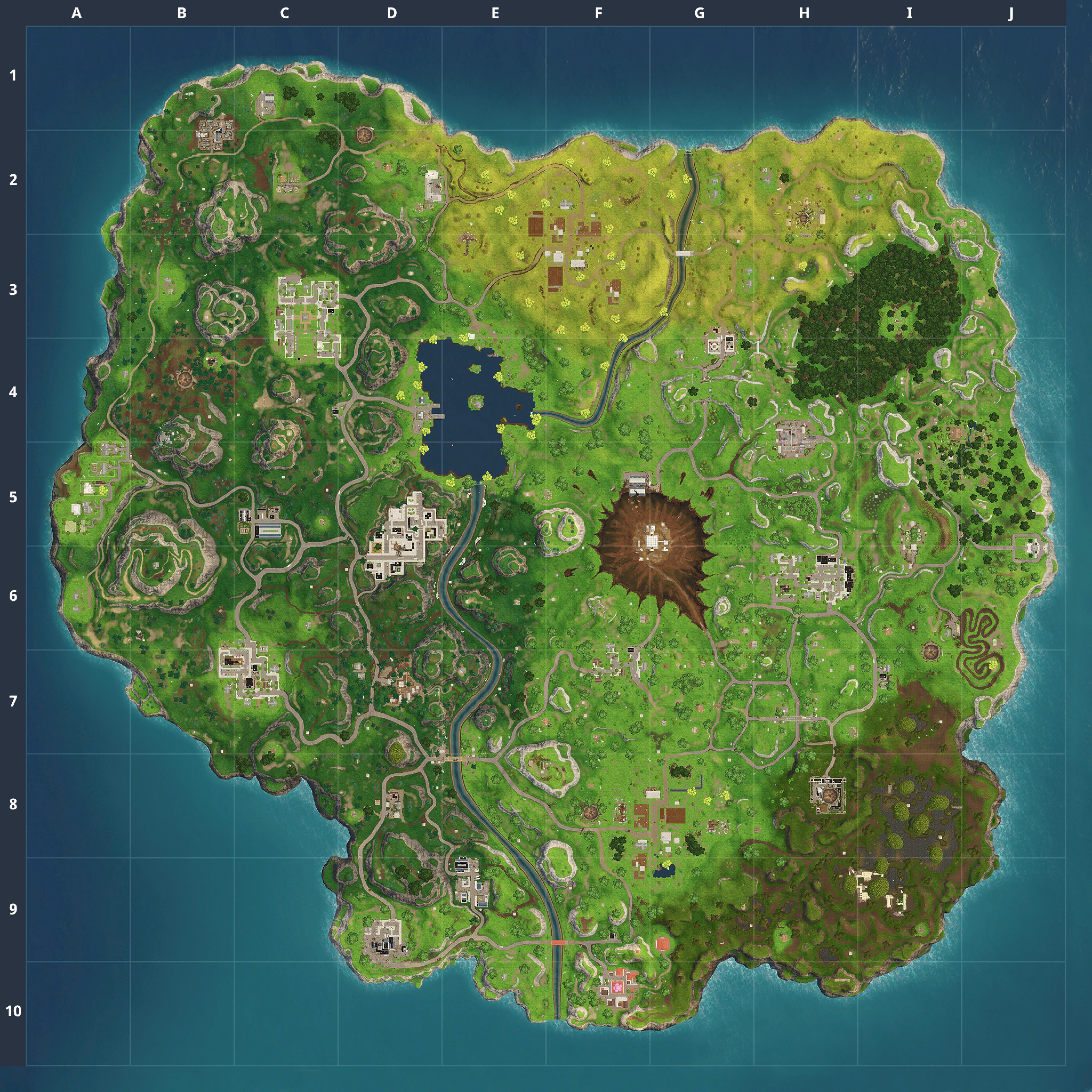 Mapa Fortnite temporada 4.1